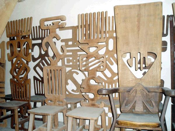 Alain Sati� : Chaises, fauteuil de bureau