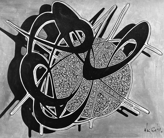 Alain Sati� : Hypergraphie ombr�e