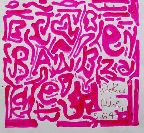 Alain Sati� : Hypergraphie rouge