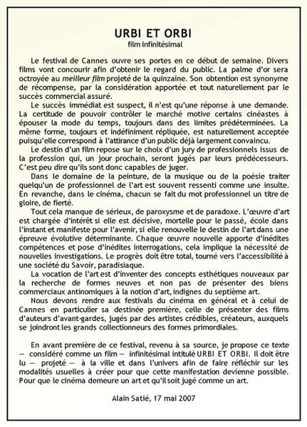 Alain Sati� : Urbi et Orbi